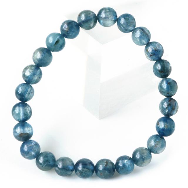 カイヤナイト ブレスレット ナチュラルカラー 7.5mm タンザニア産 藍晶石 1点もの 天然石 パワーストーン クリスマス プレゼント