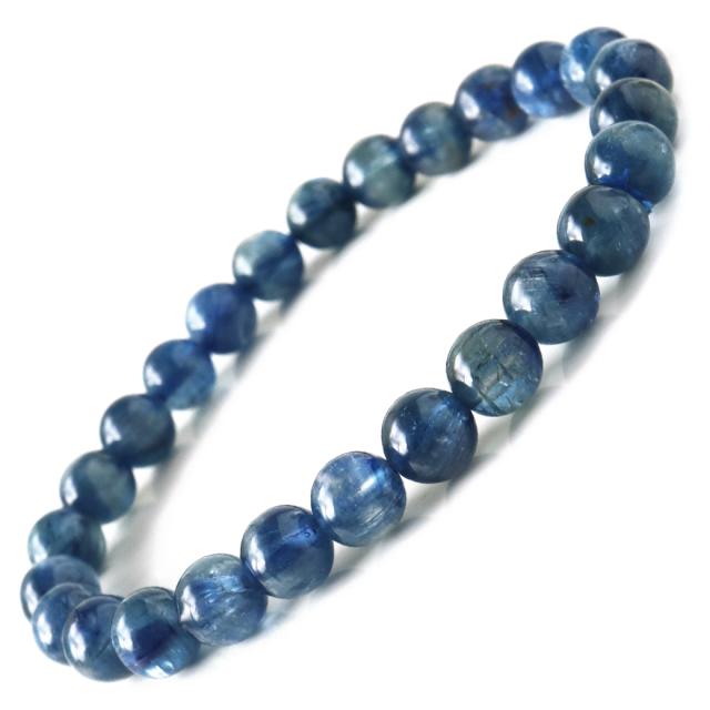 カイヤナイト ブレスレット ナチュラルカラー 7mm タンザニア産 藍晶石 1点もの 天然石 パワーストーン クリスマス プレゼント