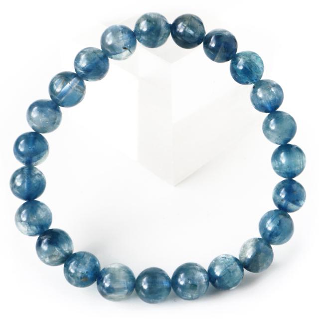 カイヤナイト ブレスレット ナチュラルカラー 8mm タンザニア産 藍晶石 1点もの 天然石 パワーストーン クリスマス プレゼント