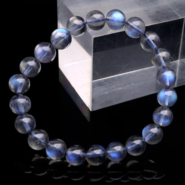 ラブラドライト ブレスレット 9mm AAAAA ブルーに輝くシラー 天然石 パワーストーン