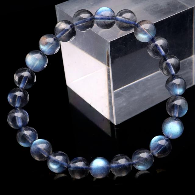 ラブラドライト ブレスレット 8mm AAAAA ブルーに輝くシラー 天然石 パワーストーン
