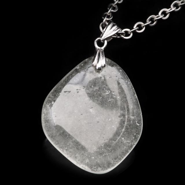 リビアングラス ペンダント Silver925 鑑別書付き インパクトガラス 衝突溶融ガラス 天然石