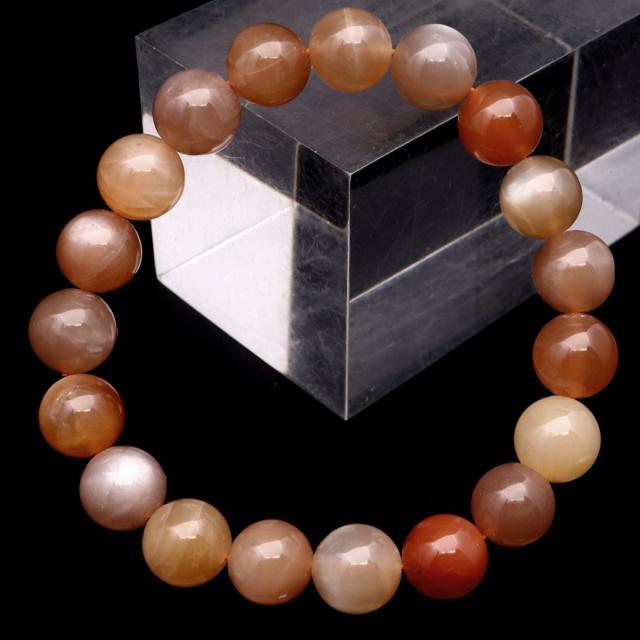 ムーンストーン ブレスレット MIX マルチカラー 天然石 6月 誕生石