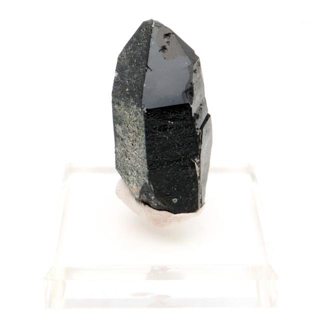 モリオン 黒水晶 原石 ポイント 台座付き 山東省産 59g 1点物 浄化 魔除け 天然石 パワーストーン