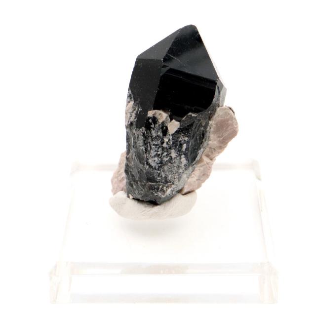 モリオン 黒水晶 原石 ポイント 台座付き 山東省産 55g 1点物 浄化 魔除け 天然石 パワーストーン