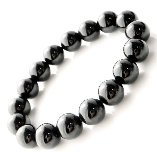 モリオン (黒水晶) ブレスレット 12mm チベット産 光が全く透けない 本物