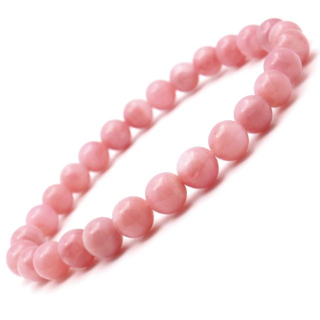ピンクオパール ブレスレット AAA オーストラリア産 レディース 10月 誕生石 天然石 パワーストーン 1点物