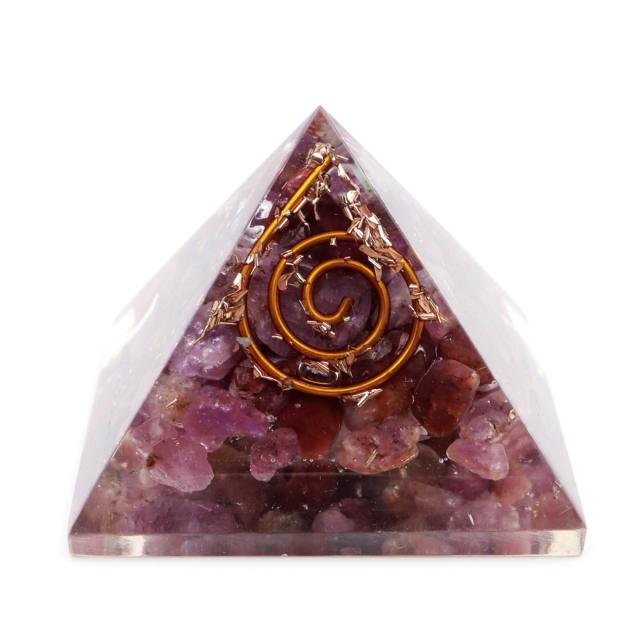 ルビー使用 オルゴナイト ピラミッド 大人気 スピリチュアルグッズ 幅約30mm前後