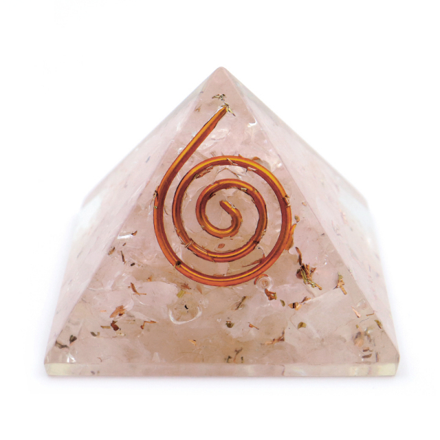 ローズクォーツ使用 オルゴナイト ピラミッド 大人気 スピリチュアルグッズ 幅約30mm前後