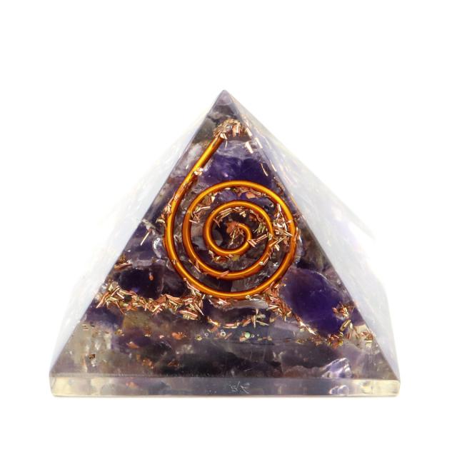 アメジスト 使用 オルゴナイト ピラミッド 大人気 スピリチュアルグッズ 幅約30mm前後