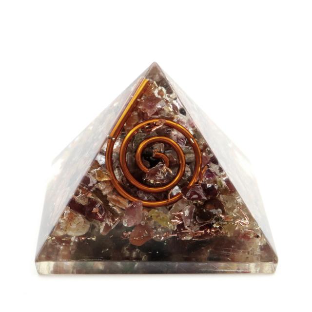 トルマリン使用 オルゴナイト ピラミッド 大人気 スピリチュアルグッズ 幅約30mm前後