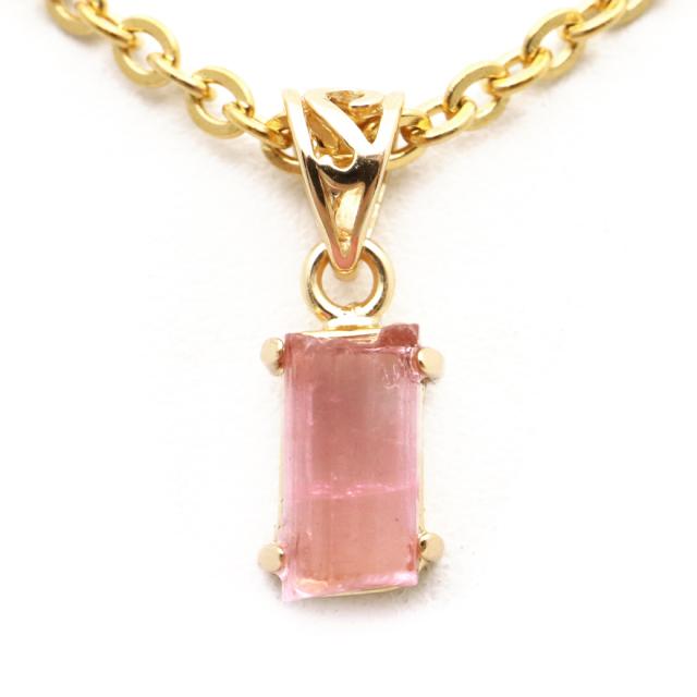 ピンクトルマリン 原石 ペンダント 天然石 ネックレス ブラジル産 Silver925 1点物 10月 誕生石 電気石