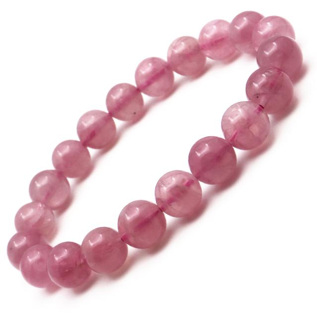 ディープ ローズクォーツ ブレスレット スターローズクォーツ マダガスカル産 濃厚 ピンク