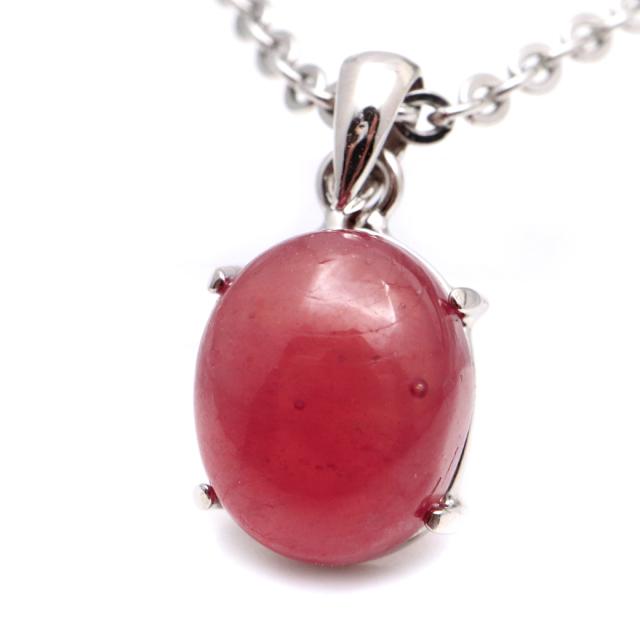 ルビー ペンダント 宝石質 SILVER925 ミャンマー産 天然石 1点物 Ruby 7月 誕生石