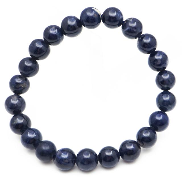サファイア ブレスレット 9mm 天然石 1点物 9月 誕生石 パワーストーン 青玉