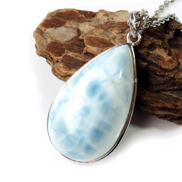 スミソナイト ネックレス 天然石 ペンダント Silver925 サージカルステンレスチェーン付き パワーストーン