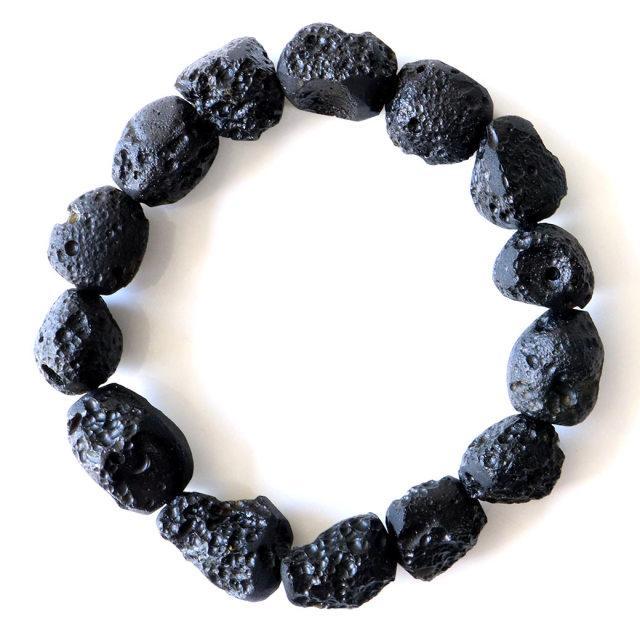 テクタイト ブレスレット タイ産 天然ガラス 隕石 原石 1点もの