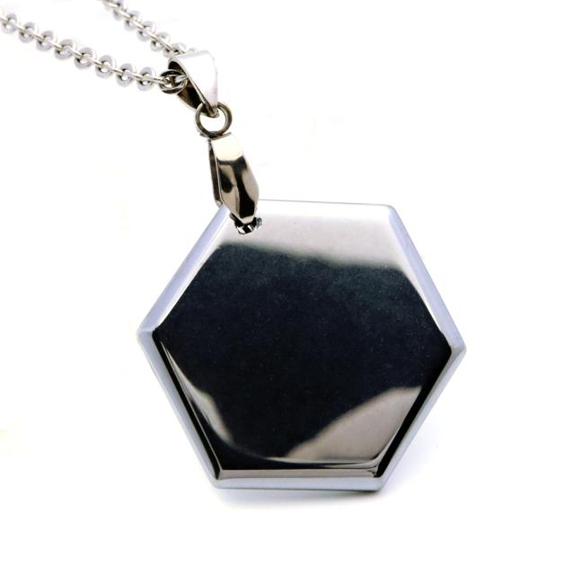 テラヘルツ鉱石 六角形 ペンダント ネックレス アクセサリー