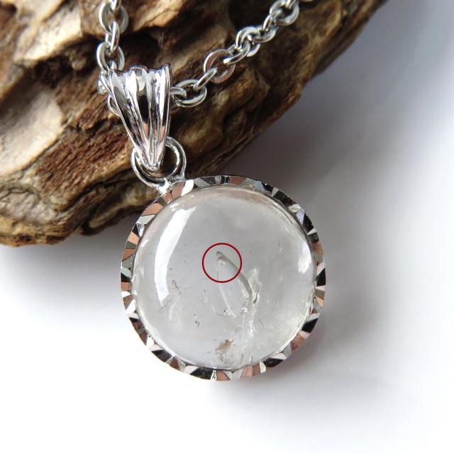 水入り水晶 ペンダント Silver925 チェーン付き 天然石