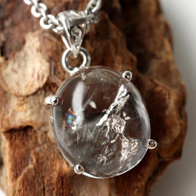 水入り水晶 ペンダント Silver1031 最古の水を閉じ込めた水晶 パワーストーン 天然石