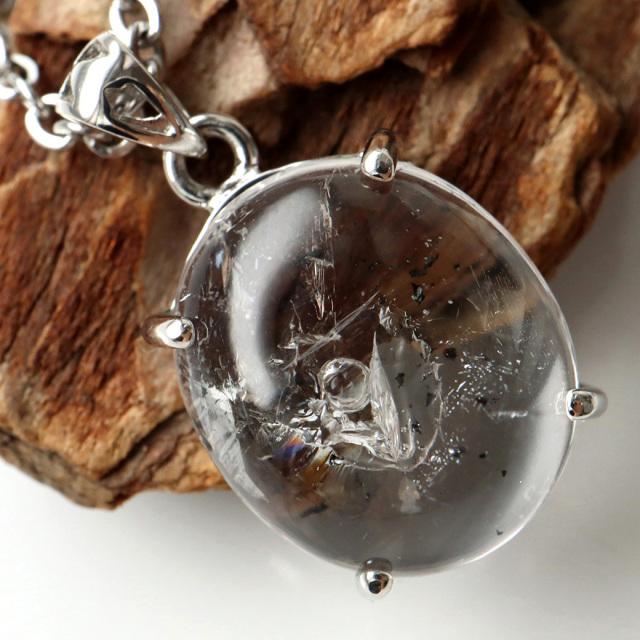 水入り水晶 ペンダント Silver959 最古の水を閉じ込めた水晶 パワーストーン 天然石