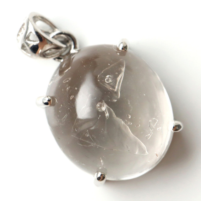 水入り水晶 ペンダント Silver1067 最古の水を閉じ込めた水晶 パワーストーン 天然石