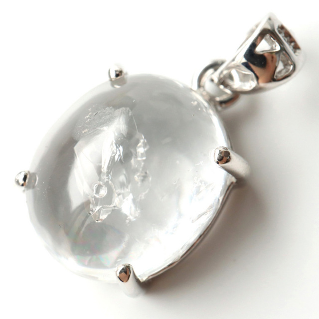 水入り水晶 ペンダント Silver971 最古の水を閉じ込めた水晶 パワーストーン 天然石