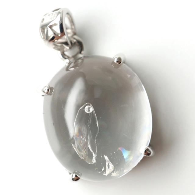 水入り水晶 ペンダント Silver983 最古の水を閉じ込めた水晶 パワーストーン 天然石