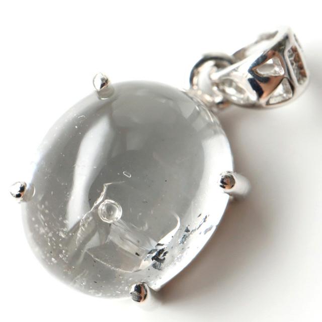 水入り水晶 ペンダント Silver995 最古の水を閉じ込めた水晶 パワーストーン 天然石