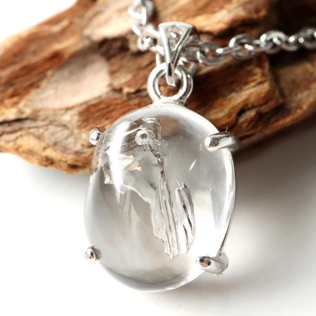 水入り水晶 ペンダント Silver1001 最古の水を閉じ込めた水晶 パワーストーン 天然石