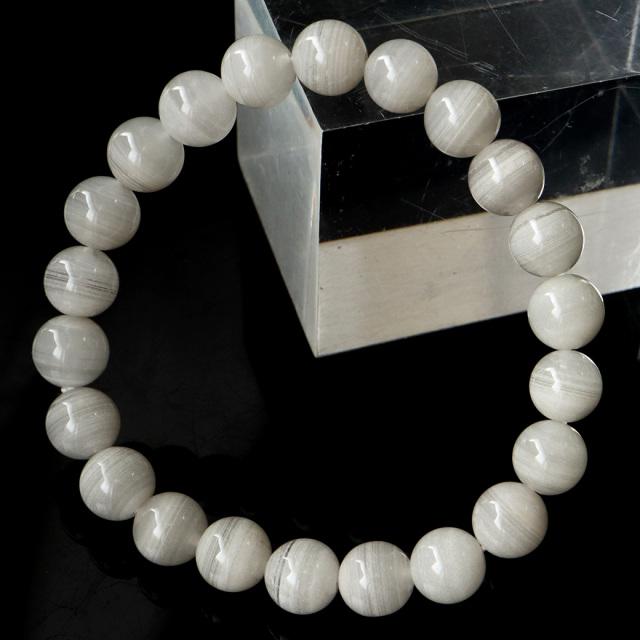 ホワイトファントム クォーツ 千層ガーデン ブレスレット 1点物 ブラジル産