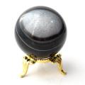 アゲート 瑪瑙 丸玉 40mm 台座付き 美品 天然石 パワーストーン