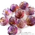 アメトリン 薔薇 彫り 置き物 ボリビア産 オブジェ 紫色の発色強め 天然石 パワーストーン