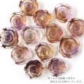 アメトリン 薔薇 彫り 置き物 ボリビア産 オブジェ 黄色の発色強め 天然石 パワーストーン