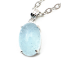 アクアマリン ペンダント 3月 誕生石 ネックレス 天然石 パワーストーン Silver925 1点物