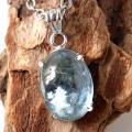 アクアマリン ネックレス 天然石 ペンダント 高品質 Silver925 1点物