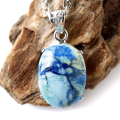 アズライトインバライト ネックレス 天然石 ペンダント ペルー産 自然の造形美 Silver925 チェーン付き