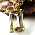 シトリン ネックレス 宝石質 バケットカット 1点物 天然石 SILVER925 18金仕上げ