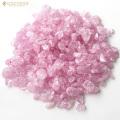 クラックレインボー水晶(爆裂水晶) ピンク(桃)カラー 高品質 さざれ石 100g
