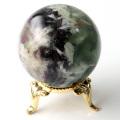 エンジェルフェザー フローライト 丸玉 台座付き 蛍石 天然石