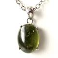 グリーン ガーネット ペンダント高品質  Silver925 チェーン付き 天然石 パワーストーン