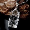 ガネーシャ 彫刻 水晶 ペンダント 高透明 Silver925 天然石 パワーストーン
