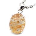 ガーデンクォーツ ペンダント 庭園 水晶 天然石 ネックレス 1点物 Silver925 自然の芸術