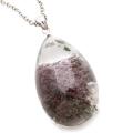 ガーデンクォーツ 庭園 水晶 ネックレス 天然石 ペンダント 透明度高め 大きめサイズ 1点物 Silver925 自然の芸術