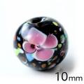 とんぼ玉 ビーズ 粒売り 1粒 10mm 桃色 ピンク