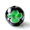 とんぼ玉 ビーズ 粒売り 1粒 10mm 緑色 グリーン