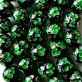 とんぼ玉 一連 ビーズ 34玉 12mm 緑色 グリーン
