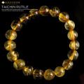 タイチンゴールドルチルブレスレット 太金針水晶 天然石 パワーストーン 金運
