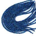 ホタルガラス一連 ビーズ6mm 長さ約40cm ブルー とんぼ石 沖縄で大人気のお土産アイテム