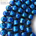 光る 夜光 発光タイプ ホタルガラス 一連 ビーズ12mm 長さ約37cm ブルー typeC とんぼ玉 沖縄で大人気のお土産アイテム